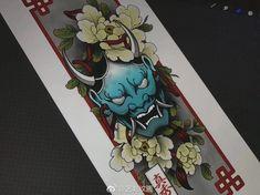 Hannya Maske, Oni Samurai, Hannya Mask Tattoo, Oriental Tattoo, Masks Art, Irezumi, Traditional Tattoo, Drawing Reference, Blackwork