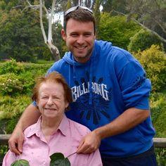 Shirley (L) with grandson Sam