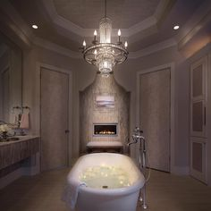 The Charlotte bath collection by Brizo in Polished Chrome shines in this dreamy candlelit Home Design Decor, House Design, Interior Design, Home Decor Inspiration, Design Inspiration, Design Ideas, Kitchen And Bath Design, Luxury Decor, Building A House
