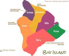 Driving Map - Hilo, Hawaii