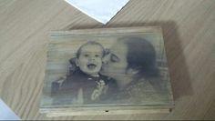 Caixa decorada com uma foto