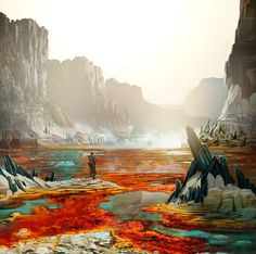 love these colors !! | toxic swamps | daniel conway aka 'arcipello'