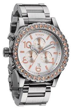 Nixon 'The 42-20 Chrono' Crystal Bracelet Watch, 42mm | Nordstrom