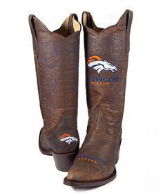 @Taylor Crawford     Brown Denver Broncos Flyover Cowboy Boot - Women |