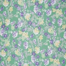 Green/Yellow/Blue Floral Silk Chiffon