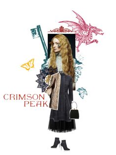 """Indulge Your Dark Side with Crimson Peak : Contest Entry"" by freddarling ❤ liked on Polyvore featuring Alexander McQueen, Dolce&Gabbana, vintage, women's clothing, women's fashion, women, female, woman, misses and juniors"