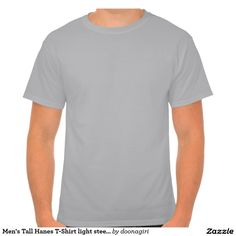 Men's Tall Hanes T-Shirt light steel LRG EXTRA + +