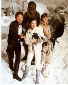 Han, Chewbacca, Leia, Luke