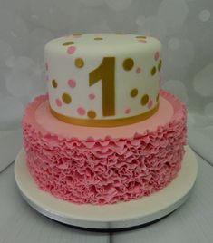 1 year old Birthday cake - ready for the topper