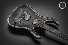 "Valenti Guitars on Instagram: ""Valenti Guitars - Callisto Carved #061 (sold) #customshopguitars #valenti #valentiguitars #blackguitar #shredmachine #customshopinstrument…"""