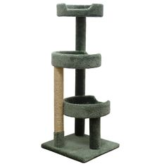 Window Size Cat Tower for Large Cats, Green Carpet ** More infor at the link of image  : Cat Tree
