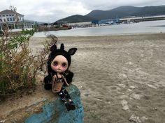 Antia en playa Celeiro
