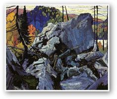 Autumn Batchawana Lake by Lawren Harris. Canadian Group of Seven. Batchawana Bay is a small bay on the eastern shore of Lake Superior, approximately 50 kilometres mi) north of Sault Ste. Group Of Seven Art, Group Of Seven Paintings, Landscape Art, Landscape Paintings, Landscapes, Oil Paintings, Canadian Painters, Canadian Artists, Singular