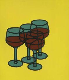 Wine glasses - Patrick Caulfield