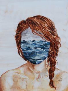 Her Mind & the Sea Art Print
