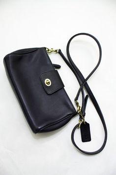 Petite Black Leather Vintage Coach Purse | ELOFSON