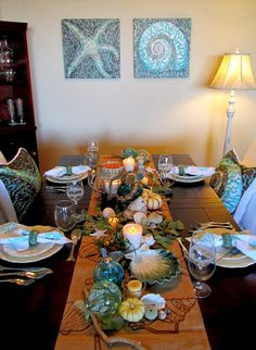 Everything Coastal: Fall Thanksgiving Table by Caron's Beach House.