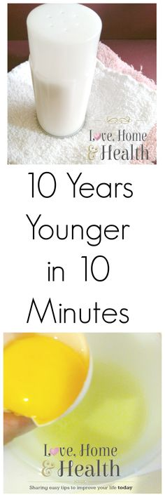 Look 10 years younger naturally with a ten minute home spa break using common products you may even already have! It's a delightful at home facial!