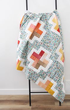 Positive, a beginner friendly jelly roll, layer cake, or scrap quilt pattern in 5 sizes Modern Quilting Designs, Modern Quilt Patterns, Patchwork Patterns, Scrappy Quilts, Baby Quilts, Patchwork Quilting, Owl Quilts, Star Quilts, Jellyroll Quilts