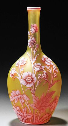 Webb cameo glass vase.