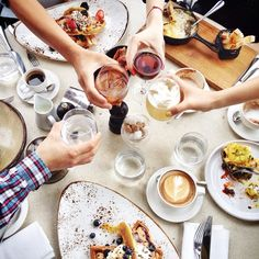 Sunday Brunch at Duck & Waffle, 40th floor, Heron Tower, London