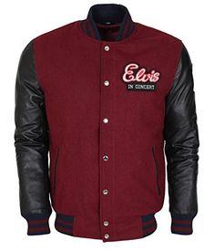 Elvis Presley In Concert Leather Sleeves Celebrity Jacket...