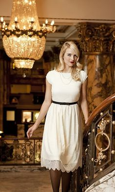 lovely lace dress with an empire waist!!