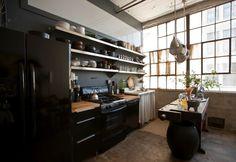 Une cuisine de loft