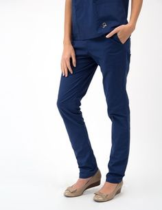 The Skinny Pant Scrubs - Estate Blue