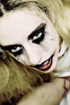 Quinn's Grin by Amaranthine-Moon on deviantART...great dark Harley Quinn makeup