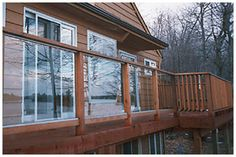 Deck Railings With Plexi Glass Wood Deck Railing, Porch Wood, Glass Railing, Outside Living, Outdoor Living, Hot Tub Privacy, Pool Porch, Patio, Deck Seating