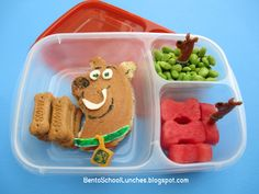 Easy Lunch Box and Scooby-Doo Bento Lunch. Also, a wonderful review of the EasyLunchbox System. Thanks to Bento School Lunches!