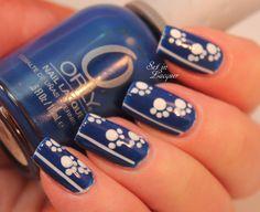 Final Four - UK Wildcats nail art. University of Kentucky pawprint nail art. Sport Nails, Uk Nails, Pawprint, Go Big Blue, Nail Ideas, Nail Designs, Nail Polish, Nail Art, Hot