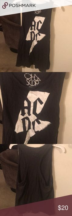EUC AC/DC tank sz L Awesome AC/DC tank in excellent condition! Black and white. Sz L Tops Tank Tops