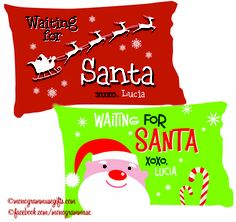 Soon it will be that time of the year when all *good* little munchkins wait up for Santa. We have designed a few special keepsake pillowcases just for that wait...  http://monogrammusegifts.com/item_315/Waiting-for-Santa-Personalized-Keepsake-Pillowcase.htm