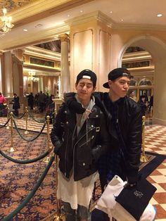 Yugyeom on New Years vacation with Mark and his family