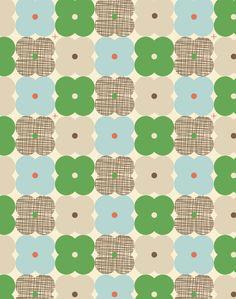 ORLA KIELY - FLOWER CHECK SCRIBBLE PRINT