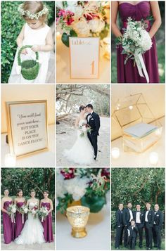 Romantic Fall Wedding in Florida with Gold and Marsala Hues