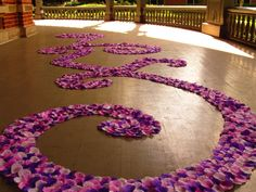 Custom Rose Petal Swirl Aisle Runner-Violet Femme
