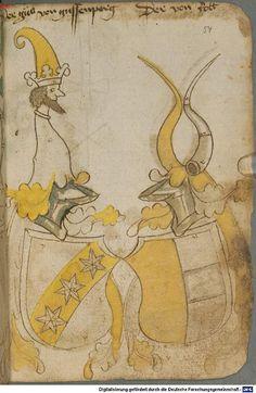 Ortenburger Wappenbuch Bayern, 1466 - 1473 Cod.icon. 308 u  Folio 54r