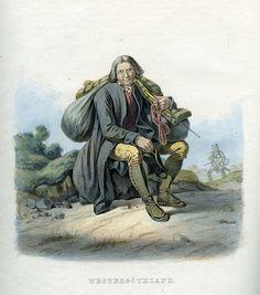 Folkdräkt från Västergötland, Sverige. Plansch ur Svenska folkets seder, bruk och klädedrägter (1863) tecknad av Carl Anders Dahlström.
