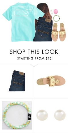 """""""Just got this shirt"""" by aweaver-2 ❤ liked on Polyvore featuring Abercrombie & Fitch, Jack Rogers, Accessorize and River Island"""