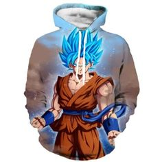 68f3a1755d0b autumn Newest Dragon Ball Z Hoodies Super Saiyan Zipper Outerwear  Goku Vegeta Majin Buu