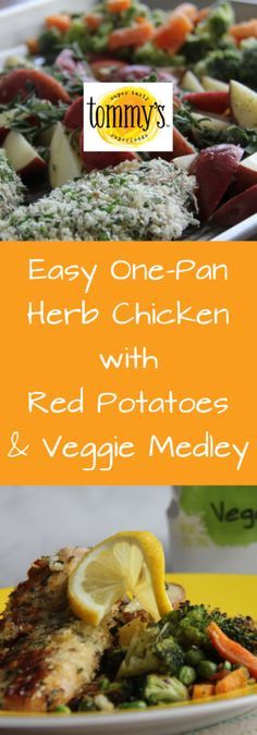 One-pan, easy, chicken and vegetables, healthy