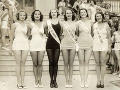 Miss America 1924 - There's no gaps between any of their thighs! Healthy and beautiful
