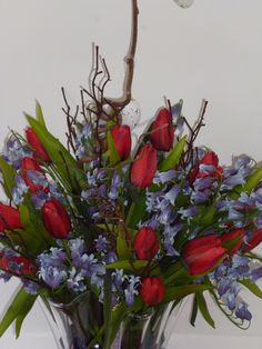 Tulips & Bluebells ......and a touch of Easter !