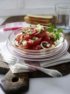 Tomaten-Salat mit Schafskäse Rezept