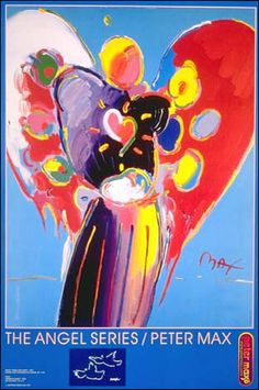 Angel with Heart  Peter Max