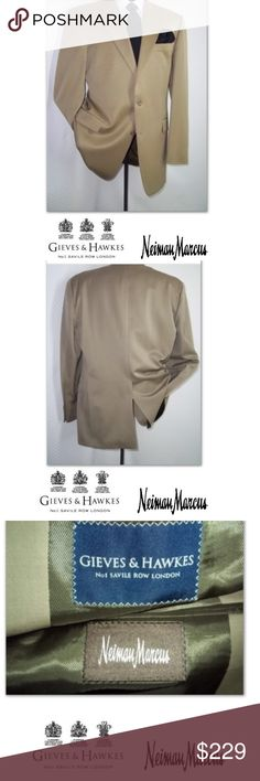 NWOT Gieves and Hawkes 100% Wool LUXURY Blazer NWOT Gieves and Hawkes for Neiman Marcus Light Green 100% Wool two button Luxury Blazer size 44 Long Mens Very Nice Jacket!!! Great for formal events: dinners, work, parties, Etc. also great gift idea Neiman Marcus Jackets & Coats