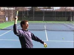 Found this great tennis kick serve from Jeff Salzenstein. I got a lot out of this and it helped my serve to do this drill after just one time out on the tennis court. Tennis Rules, Tennis Gear, Tennis Tips, Tennis Videos, Tennis Serve, Tennis Match, Tennis Techniques, How To Play Tennis, Tennis Pictures